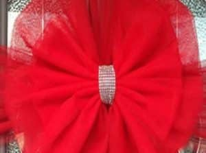 Red Christmas Door Bows
